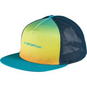 gorra fade trucker tropic blue