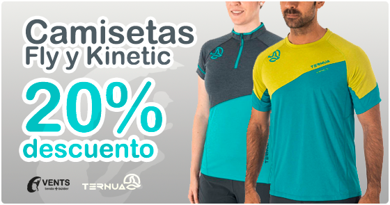 kinetic fly ternua camiseta